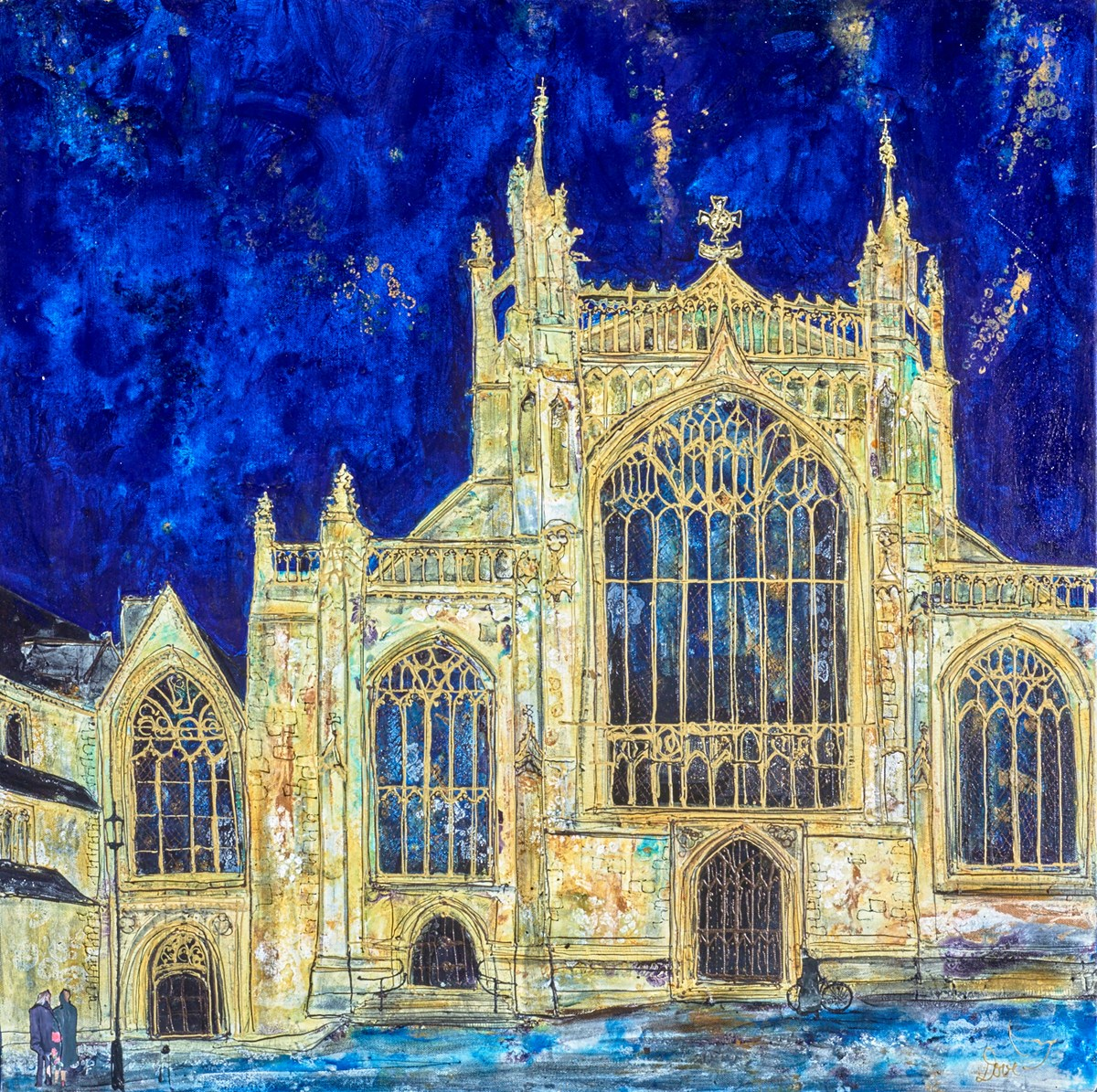 Behold the Cathedral and the Curate's Bike by katharine dove -  sized 32x32 inches. Available from Whitewall Galleries